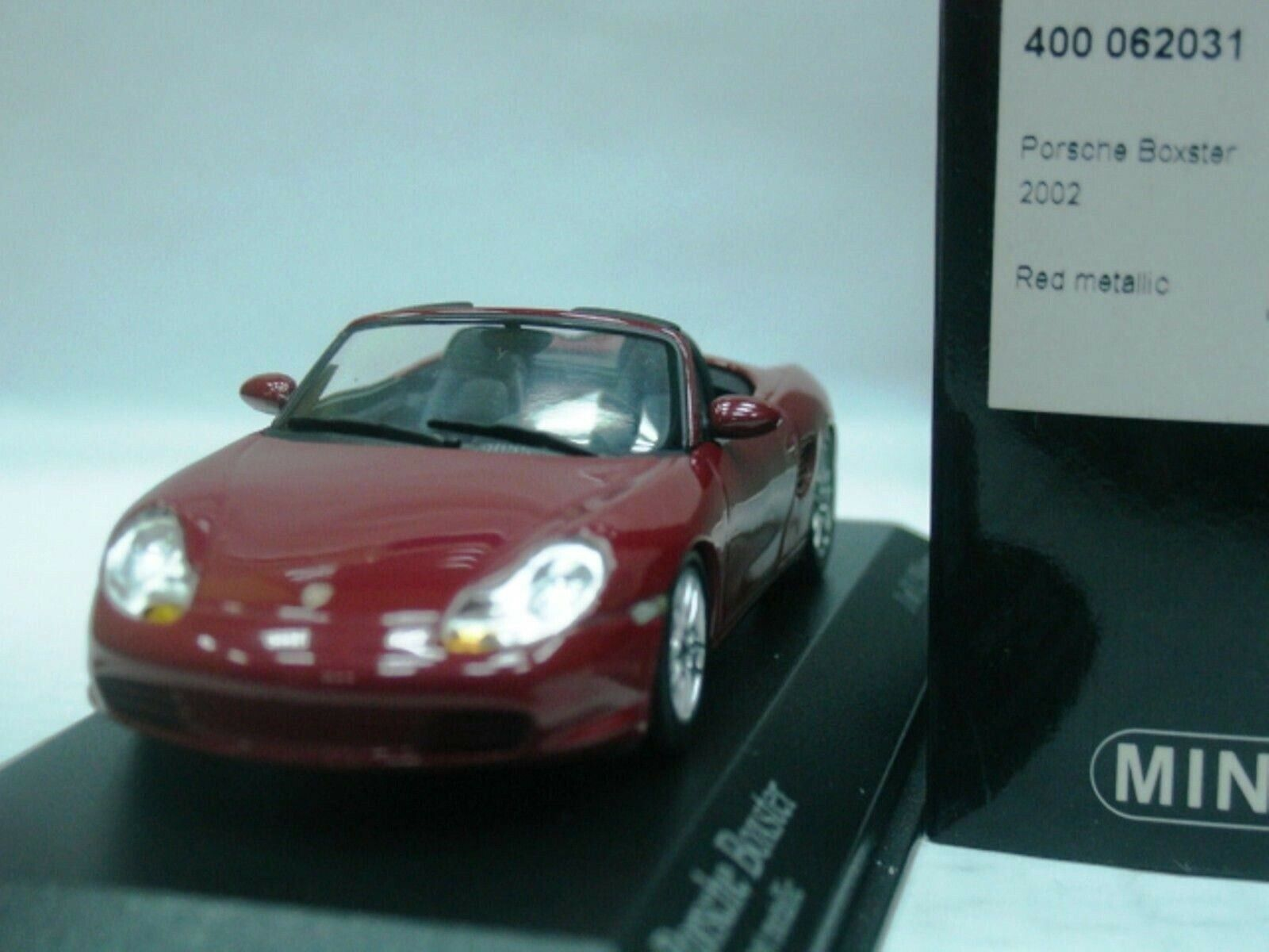 WOW EXTREMELY RARE Porsche 986 Boxster 2002 228HP Dark Red 1 43 Minichamps-Spark