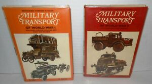 2-BOOKS-Military-Transport-in-WW1-amp-WW2-Color-Illustrations-op-stated-1st-Eds