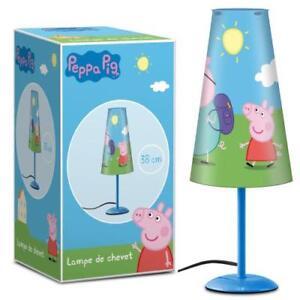 Peppa-Wutz-Nachttischlampe-Leucht-Licht-Lampe-Nachttisch-Pig-Kinderzimmer-NEU