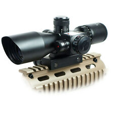 2.5-10x40 Tactical Rifle Scope Red Laser Dual illuminated Mil-dot wit Rail Mount