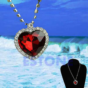 Beautiful necklace red heart of the ocean retro pendant valentine image is loading beautiful necklace red heart of the ocean retro aloadofball Image collections