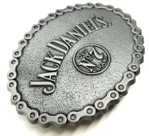 Jack Daniel`s Belt Buckle Old No.7 Brand Chain Authentic Officially Licensed