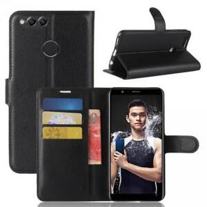 Huawei-Honor-7X-Custodia-a-Portafoglio-Protettiva-Cover-wallet-Case-Nero