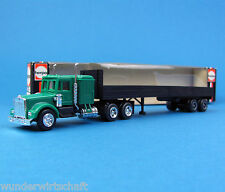 Herpa H0 850272 KENWORTH Pritsche Sattelzug Grün US Truck & Trailer HO 1:87 Box