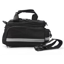 Expandable black Bike Bicycle Pannier Saddle Rear Seat Travel Bag + rain cover