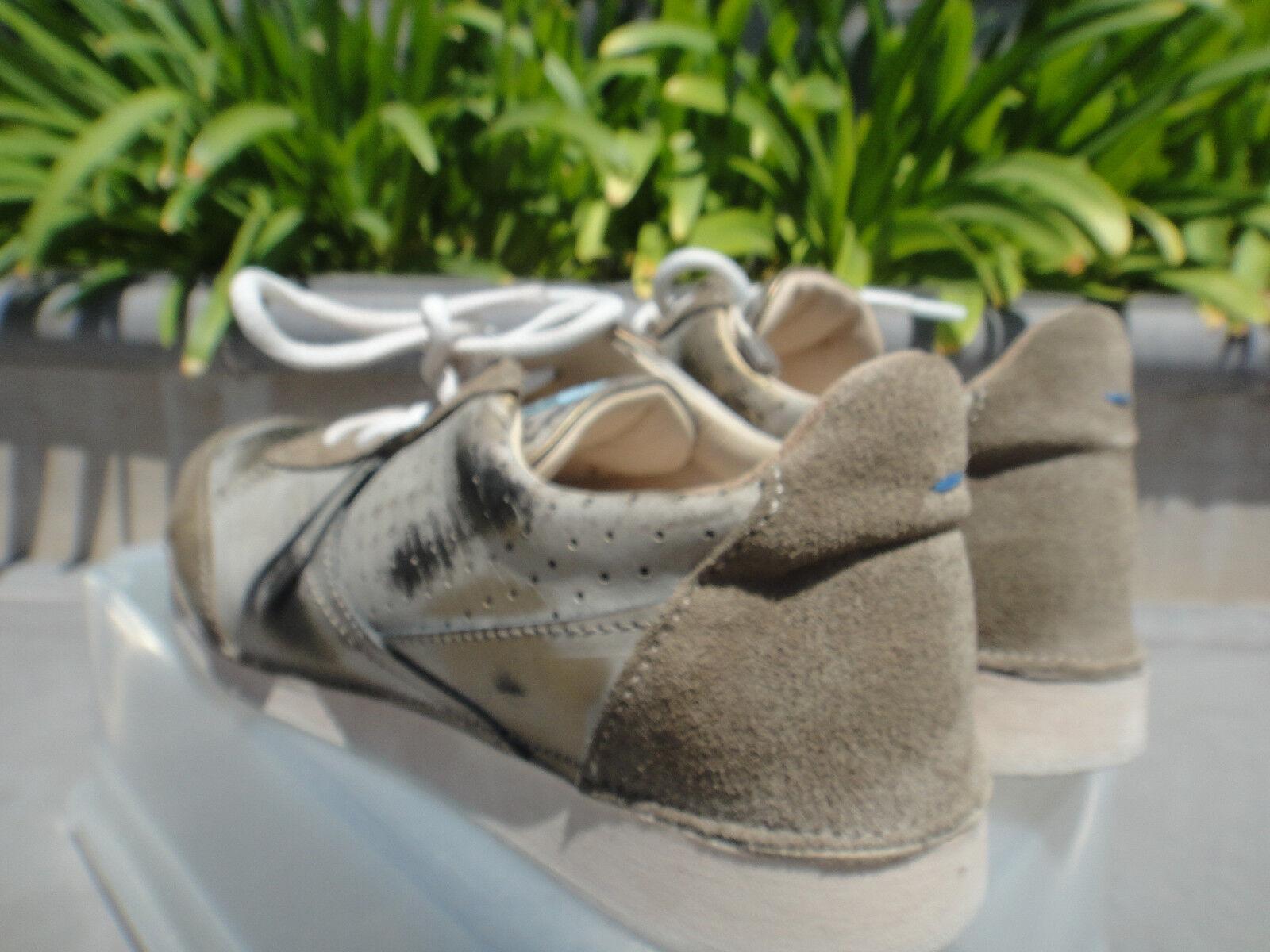 MOMA SOFTY FLINT GLOVF-DB GLOVF-DB GLOVF-DB Taupe gold Bronze Sneakers, Italian Handmade Wmn EUR37 d5d788