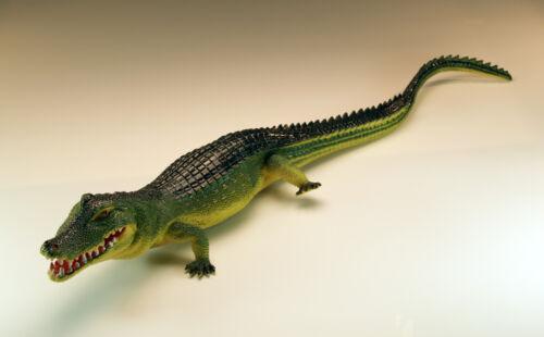 2x Krokodil Kunststoff Gummi 30 cm Plastikkrokodil Alligator