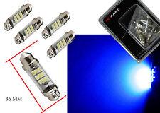 """2 x 36 mm(1.5"""") Ultra Blue  12V Tube Festoon Dome Light LED Bulbs DE3021 DE3423"""