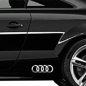 2 X AUDI RINGS CAR VINYL STICKERS RINGS GRAPHICS DECALS LOGO
