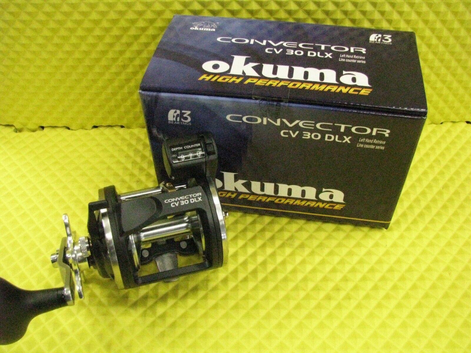 Okuma Convector CV 30DLX Left Hand Retrieve Line Counter Trolling Reel