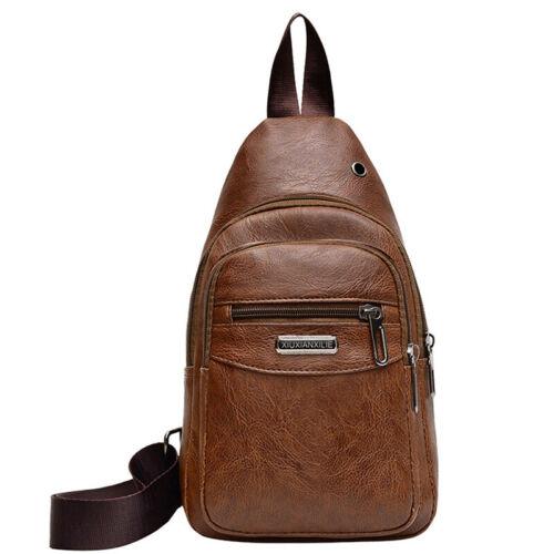 Men/'s Womens Crossbody Messenger Chest Bag Pack Single Side Shoulder Bags MH