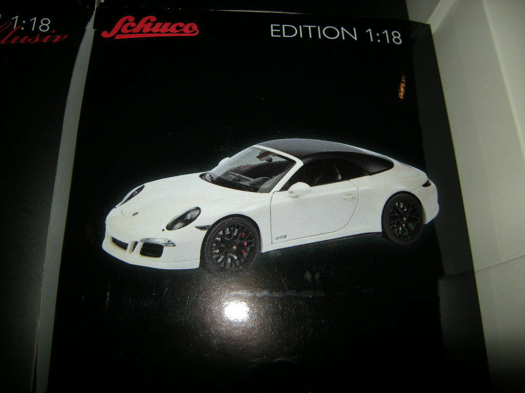 Porsche 911 gts cabrio 1,18 schuco weiße   weiss 450039500 in ovp.