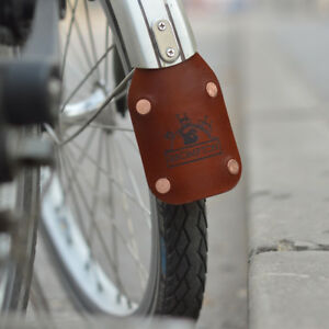 Brown//Black//Honey Brompton Leather Mudguard,Vintage,Folding Bike,