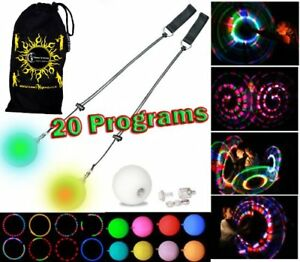 Led Poi - Glow Multi-function (20 Programmes) De Flames N Games 5055897547218