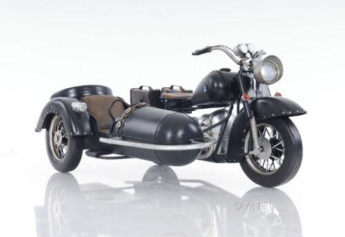 "BMW R75 Military 1930s Motorcycle w// Sidecar Metal Model 11/"" Automotive Decor"