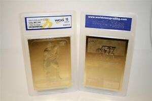 KARL-MALONE-1986-87-Fleer-ROOKIE-23KT-Gold-Card-Graded-GEM-MINT-10-BOGO