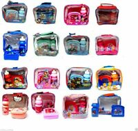 KIDS CHILDREN'S DISNEY CHARACTER LUNCH BAG WITH BOTTLE & SANDWICH BOX SCHOOL