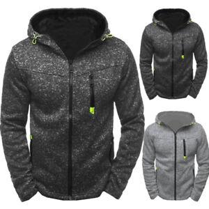 Men-039-s-Hoodie-Fleece-Zip-Up-Hoodie-Jacket-Sweatshirt-Hooded-Zipper-Outwear-Top