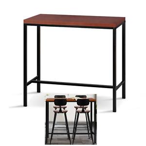 Awesome Details About Retro Vintage High Bar Table Kitchen Cafe Pine Wood Table Top Metal Leg Pub Tabl Download Free Architecture Designs Estepponolmadebymaigaardcom