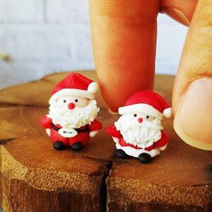 Christmas Dollhouse Miniatures.Details About 2x Doll Tiny Santa Christmas Gift Xmas Dollhouse Miniatures Decor Collectibles