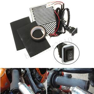 Kit-Poignee-Chauffant-Interrupteur-pour-Harley-Custom-Chopper-Cafe-Racer-Bobber