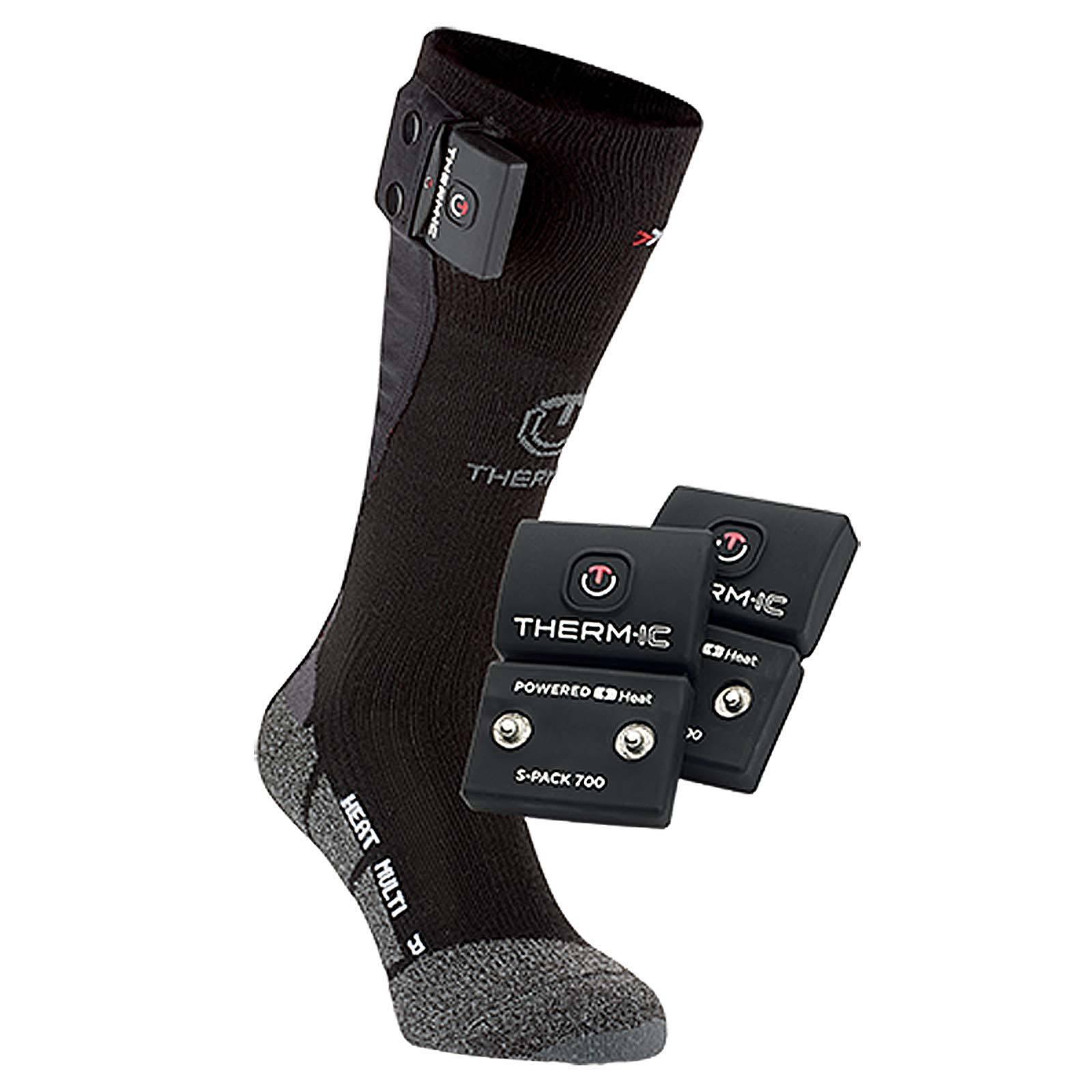 Termico Powersock Set S-PACK 700 Heiz-Socken Calzini da Sci Riscaldata Nuovo