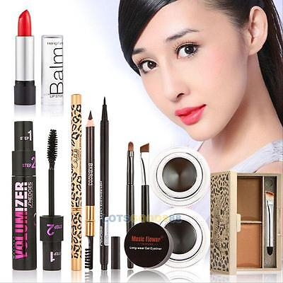 Makeup Kits Gift Set Eyeshadow Foundation Blusher Powder Lip Gloss Eyelash Kit
