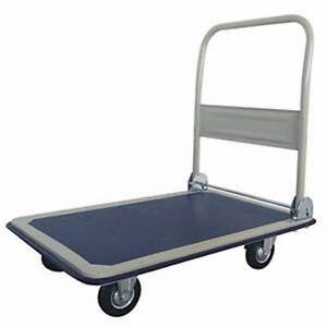 NEW-300kg-Hand-Trolley-Flat-Bed-Moving-Up-to-300kg-Rubber-tyres-Foldable
