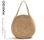 Mango Borsa Shopping Rotondo Intrecciato Iuta Naturale EDIZIONE LIMITATA XL Tote Handbag Nuovo con etichette