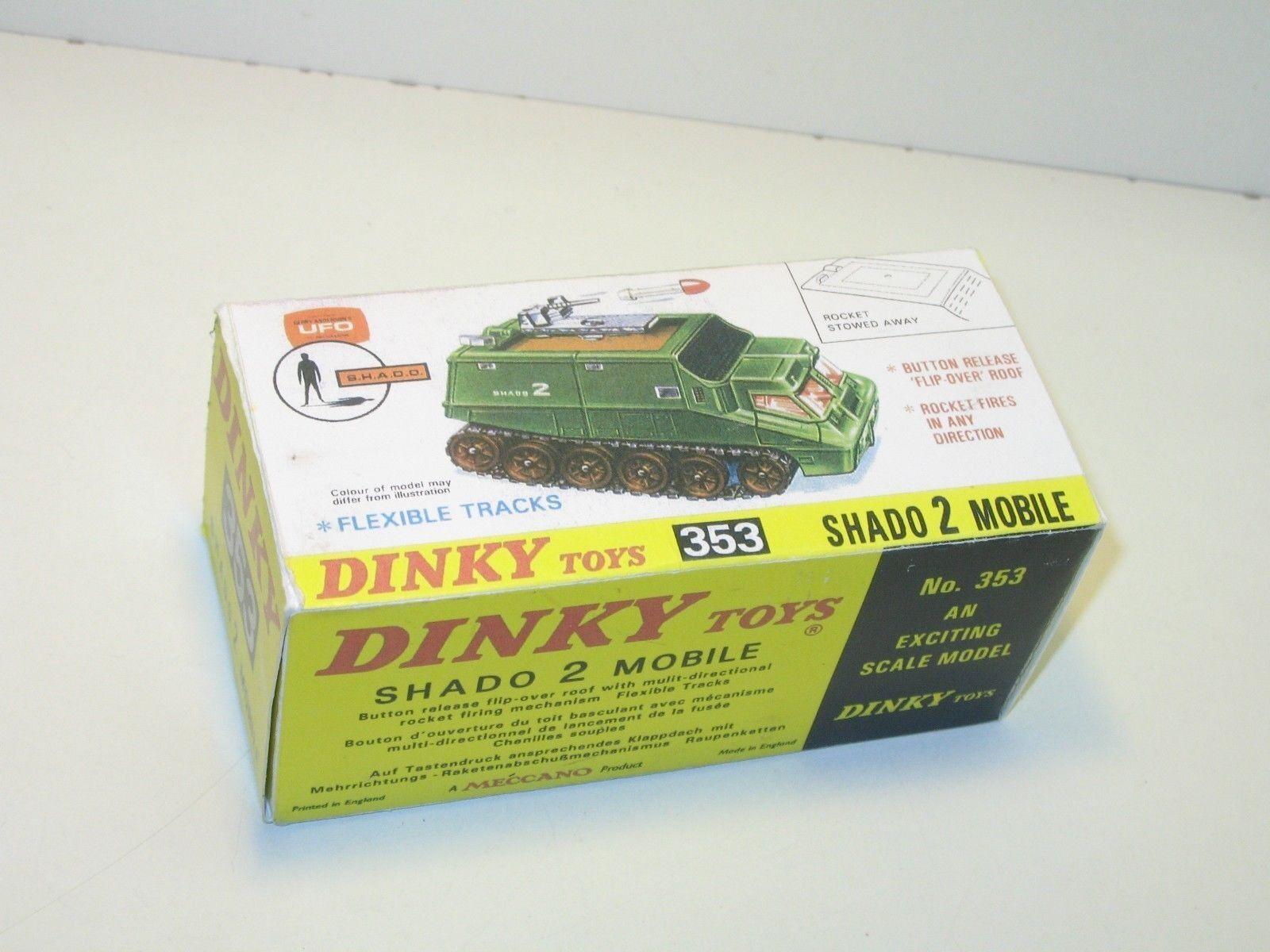N89, CAJA militar repro, SHADO 2, DINKY toys ref 353