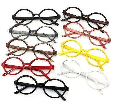 Unisex Schoolboy Round Fashion Vintage Plastic Glasses