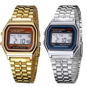 Elegant-Men-Women-Retro-Stainless-Steel-LCD-Digital-Sport-Stopwatch-Wrist-Watch