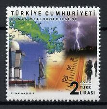 Turkey Science Stamps 2019 MNH World Meteorology Day Weather Lightning 1v Set
