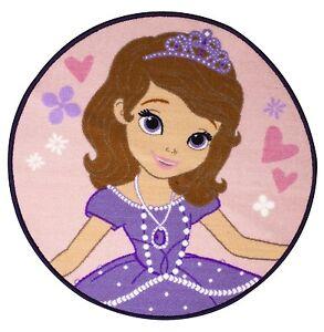 Princesa sof a academy forma redonda alfombra infantil personaje dormitorio ebay - Alfombra redonda infantil ...