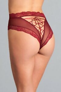 07601f87d sexy BE WICKED high WAISTED sheer LACING lace up BACK cheeky CUT ...