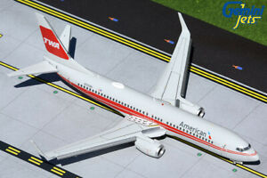 Gemini Jets 1:200 American Airlines 737-800 TWA Heritage Flaps Down G2AAL473F