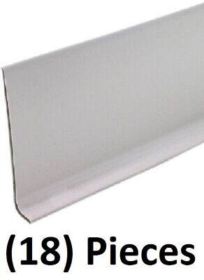 """pieces M D Building 75598 2-1//2/"""" x 4/' Black Vinyl Cove Wall Base Moulding 18"""