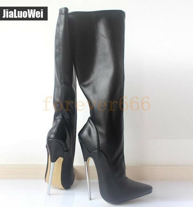 18cm High Heel Damen Kneehohe Stiefel Stiletto Stiletto Stiletto Nachtclub Lederstiefel Sexy 2bc4ed