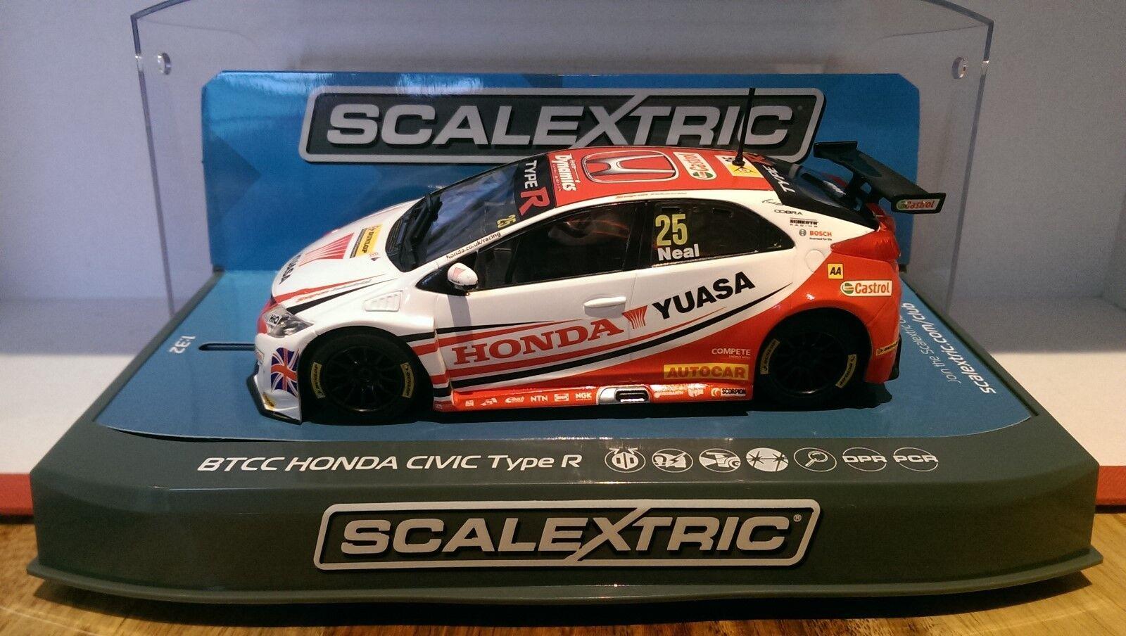 SCALEXTRIC C3734 BTCC 2015 Yuasa Racing Honda Civic Type R No.25 Matt Neal