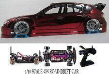 1/10 Scale Subaru Impreza WRX RTR Custom RC Drift Cars 4WD 2.4Ghz & Charger RED
