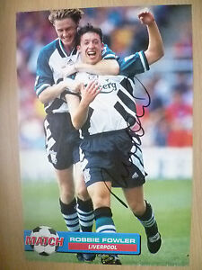Original-Hand-Signed-Press-Cutting-ROBBIE-FOWLER-Liverpool-FC-appx-A4