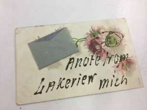 Lakeview michigan written note flower greeting antique postcard image is loading lakeview michigan written note flower greeting antique postcard m4hsunfo