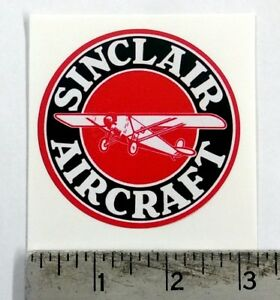Vintage Sinclair Aircraft sticker decal 3""