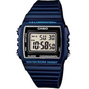 Casio-W-215H-2AV-Blue-Classic-Digital-Watch-W215H-2AV-with-Box-Included