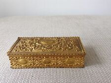 Antique French gilt / Ormolu Bronze 19th Century Box Collectable