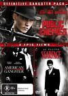 Public Enemies / American Gangster / Scarface (DVD, 2009, 3-Disc Set)