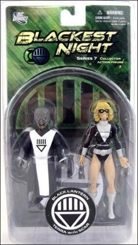 Blackest Night S7 Black Lantern Terra and Scar  Action Figure MINT DC Direct
