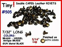 Quality Small Rivets 505 Brass Tiny Rivets Leather Decorating