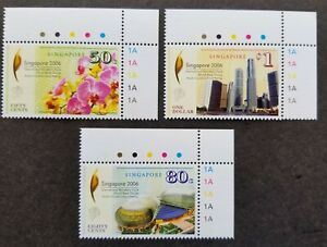 [SJ] Singapore International Monetary Fund IMF 2006 Orchid Bank (stamp plate MNH