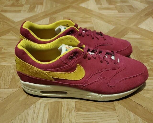 Nike Air Max 1 Premium Dynamic Berry Purple Yellow 875844-500 Men/'s 7.5-9